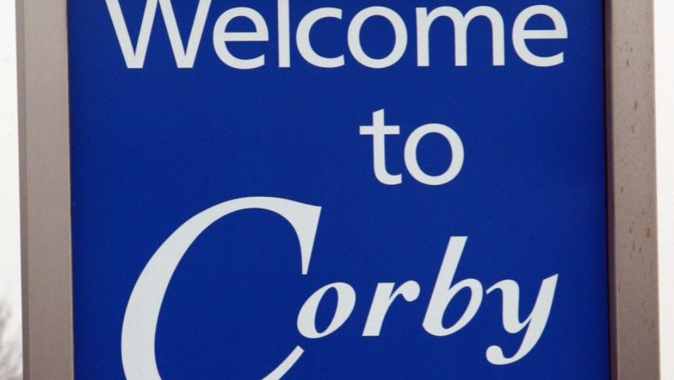 welcome to corby sign